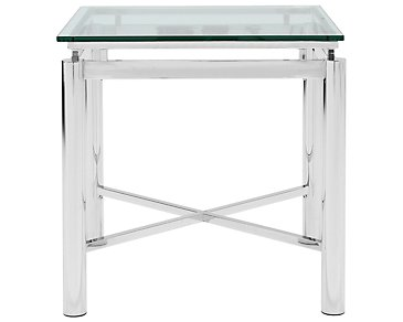 Nova Glass Square End Table