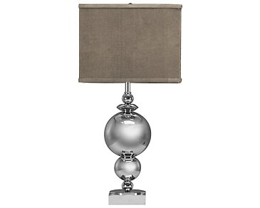 New World Silver Table Lamp