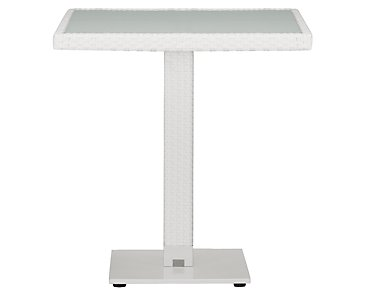 "Lisbon White 27"" Square Table"