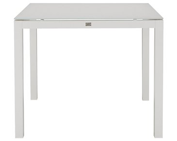 "Lisbon White 36"" Square Table"