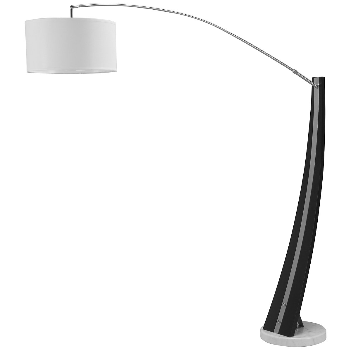 Planar Dk Brown Arc Floor Lamp
