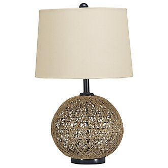 Entwine Lt Brown Table Lamp