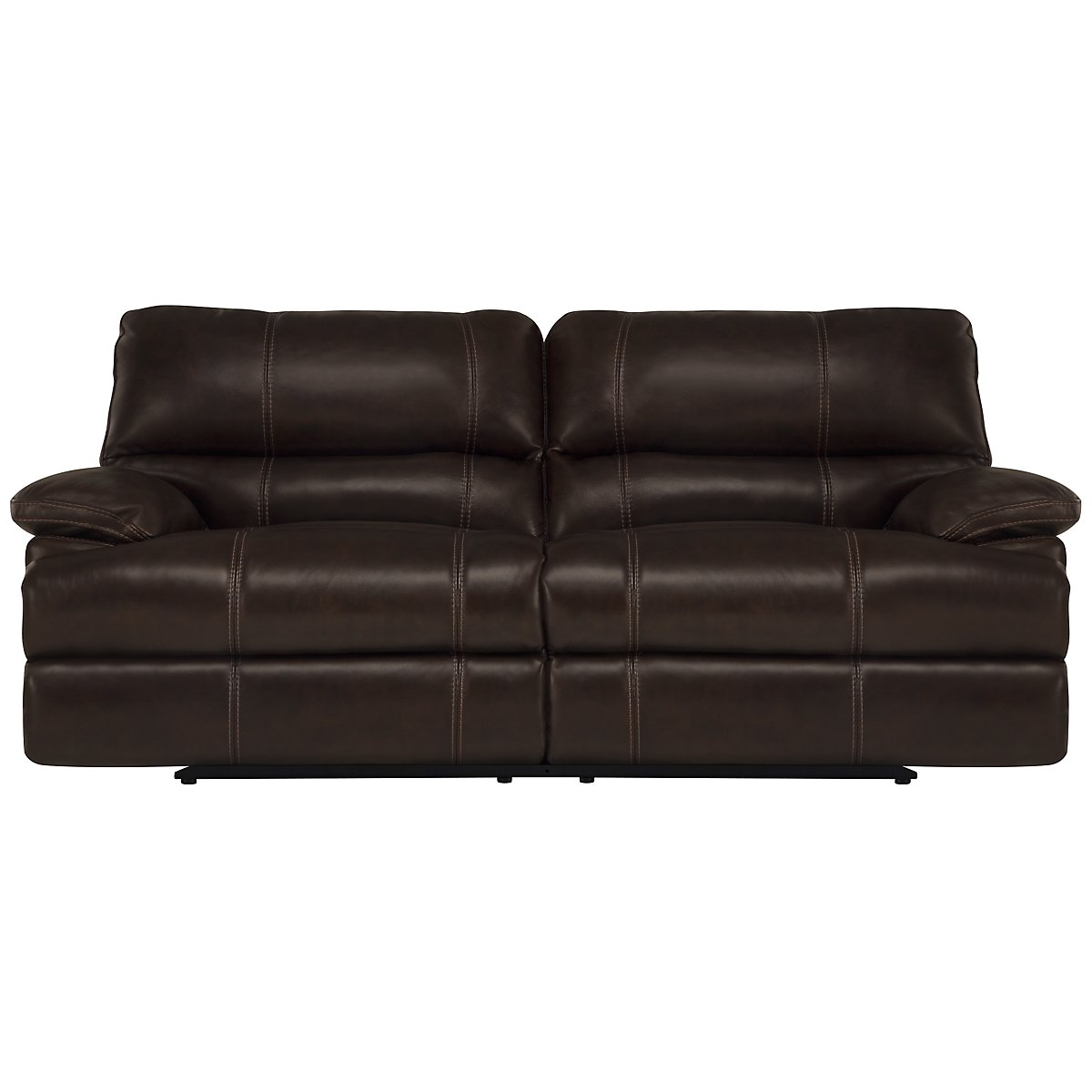 Alton2 Dark Brown Leather & Vinyl Power Reclining Sofa