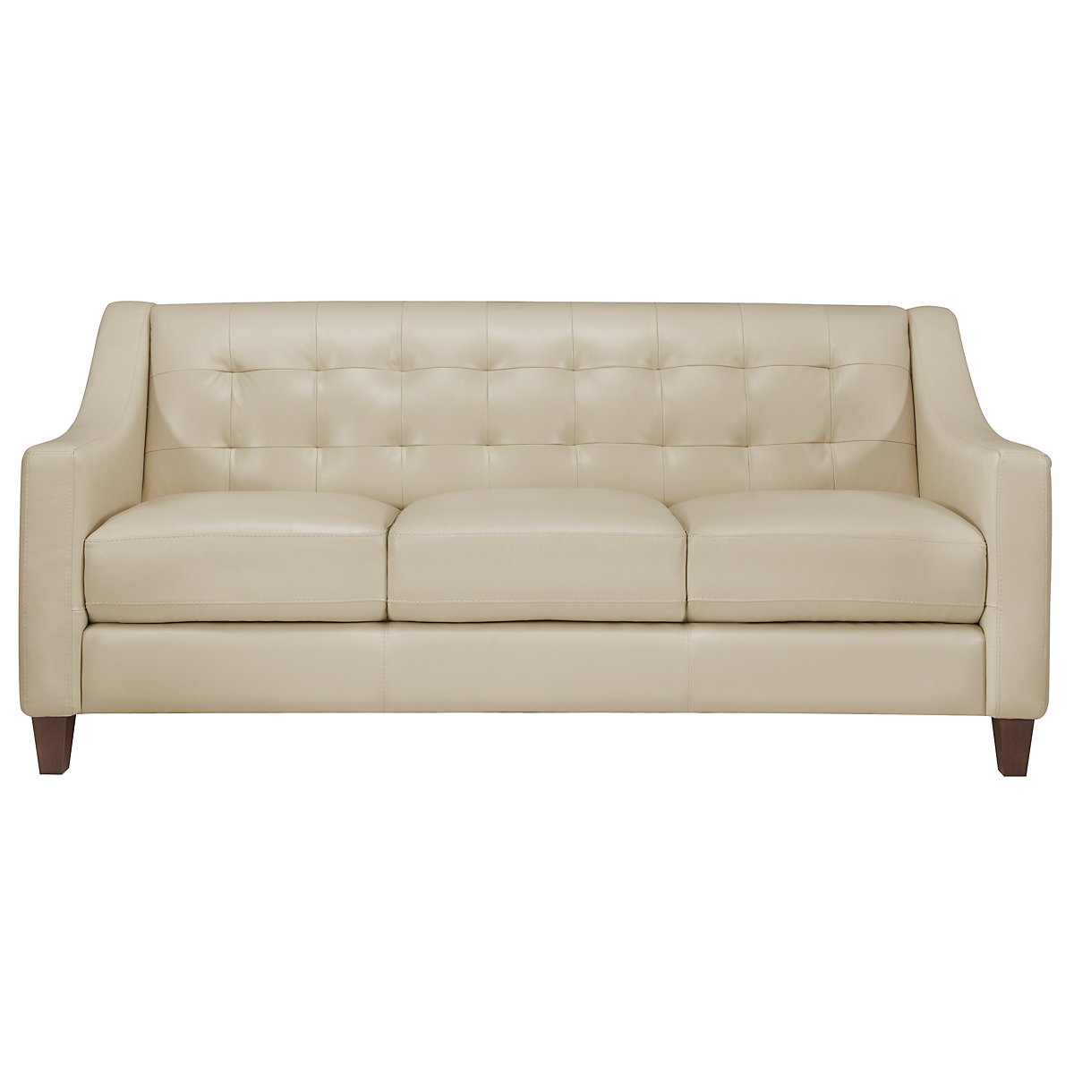 Elise Lt Taupe Leather Sofa