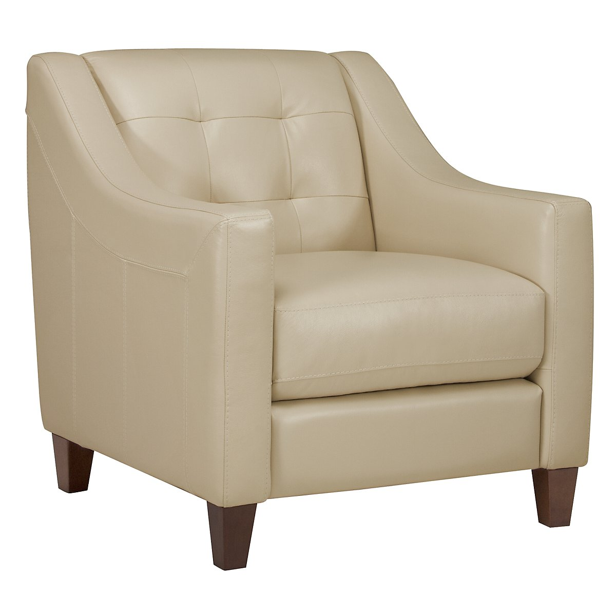 Elise Light Taupe Leather Chair