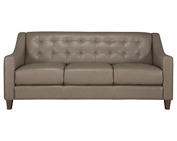 Elise Pewter Leather Sofa