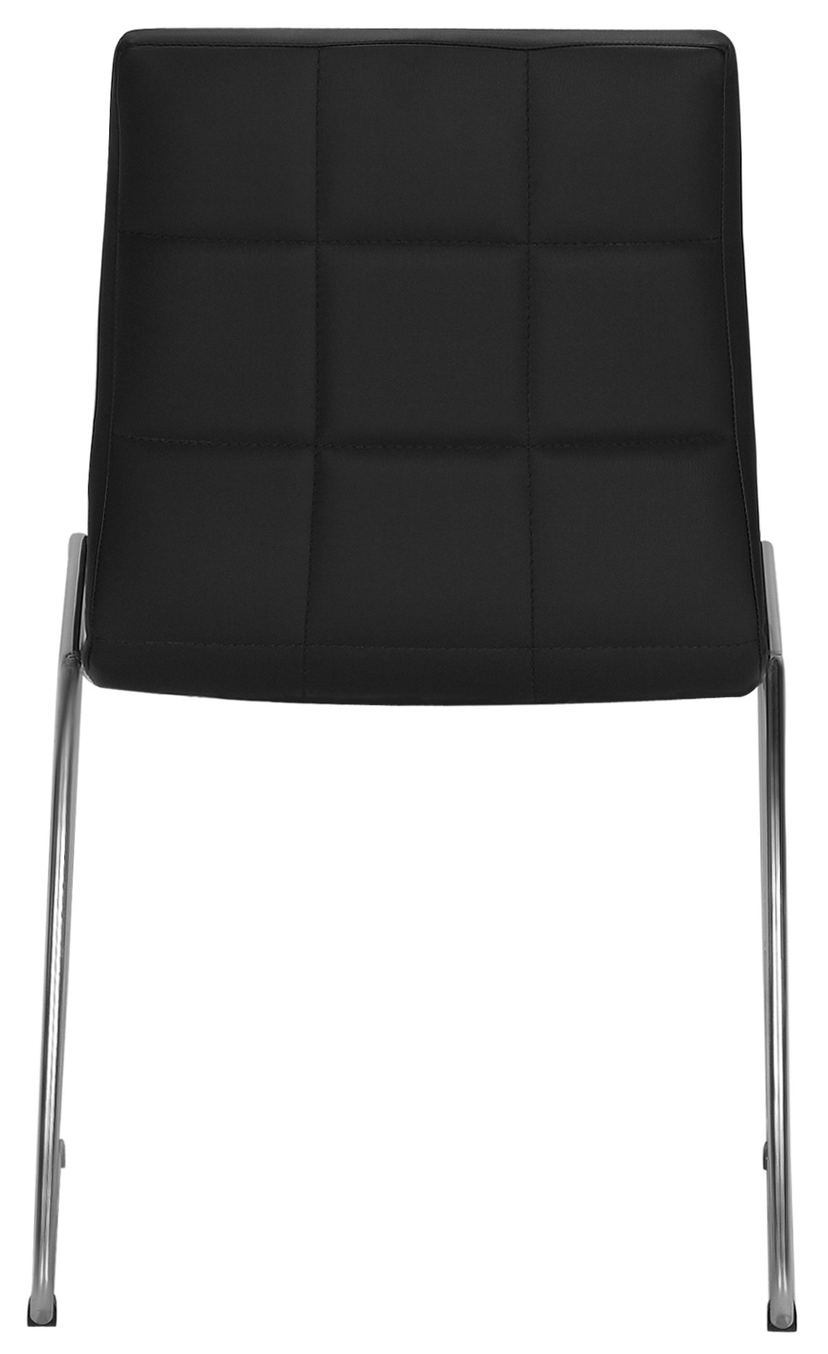 napoli black rect table & 4 chairs