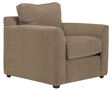 Express3 Light Brown Microfiber Chair