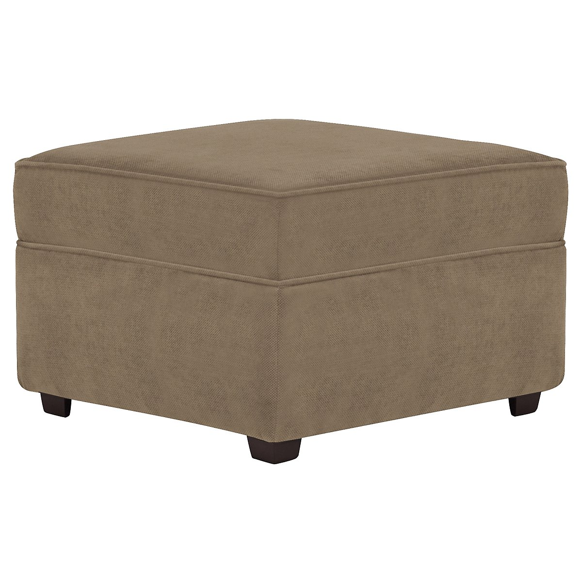Express3 Light Brown Microfiber Ottoman