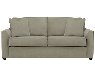 Express3 Light Green Microfiber Sofa
