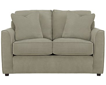 Express3 Light Green Microfiber Loveseat