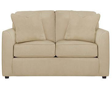 Express3 Light Beige Microfiber Loveseat