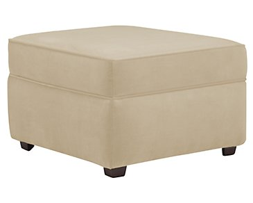 Express3 Light Beige Microfiber Ottoman