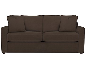 Express3 Dark Brown Microfiber Sofa