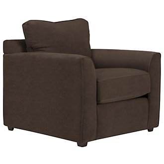 Express3 Dark Brown Microfiber Chair