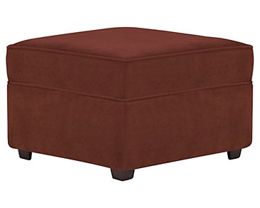 Express3 Red Microfiber Ottoman