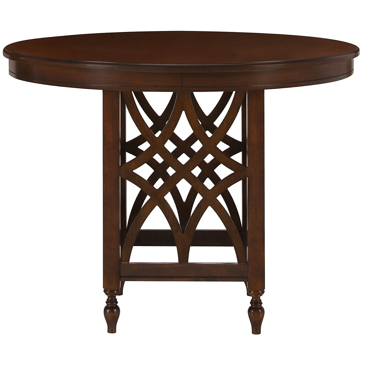 City furniture oxford mid tone round high dining table for High dining table