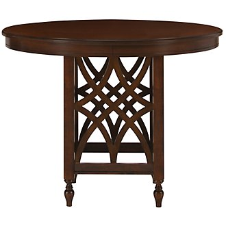 Oxford Mid Tone Round High Dining Table