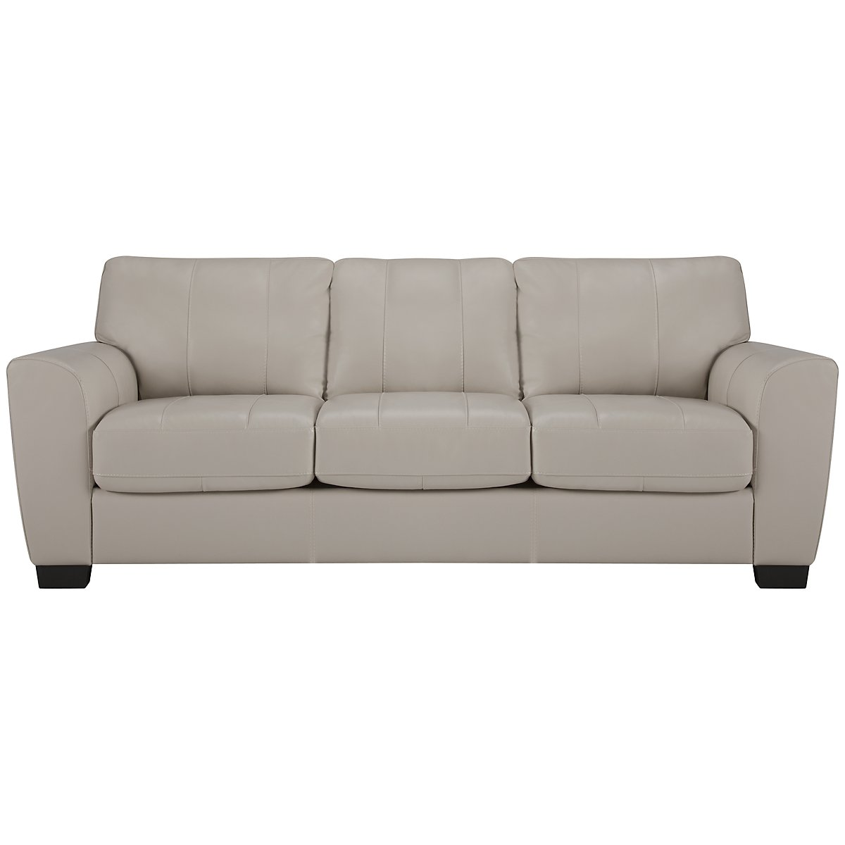 Fallon Lt Gray Leather & Vinyl Sofa