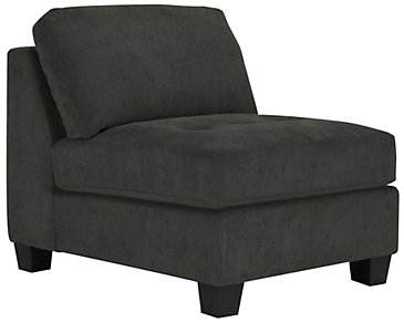 Mercer2 Dark Gray Microfiber Armless Chair
