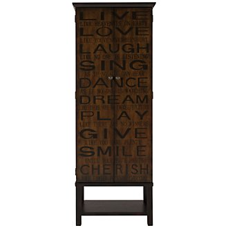 Poem Mid Tone Wood Cabinet