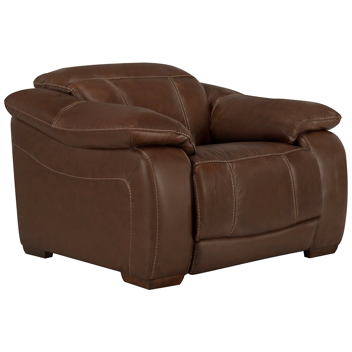 Orion Medium Brown Leather & Bonded Leather Recliner