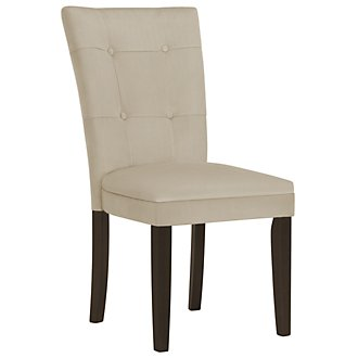 Matinee Lt Beige Microfiber Upholstered Side Chair