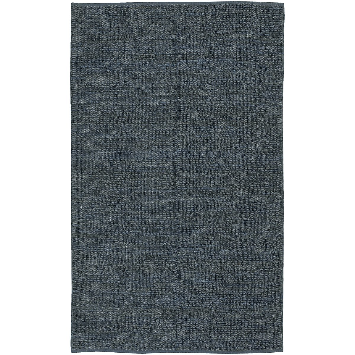 Solid Jute Blue 8X10 Area Rug