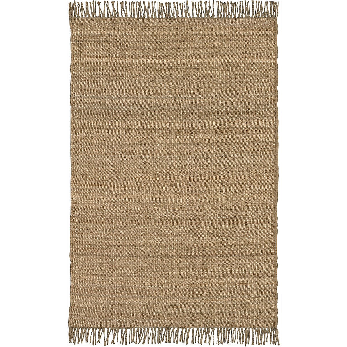 Fringe Lt Brown 5X8 Area Rug