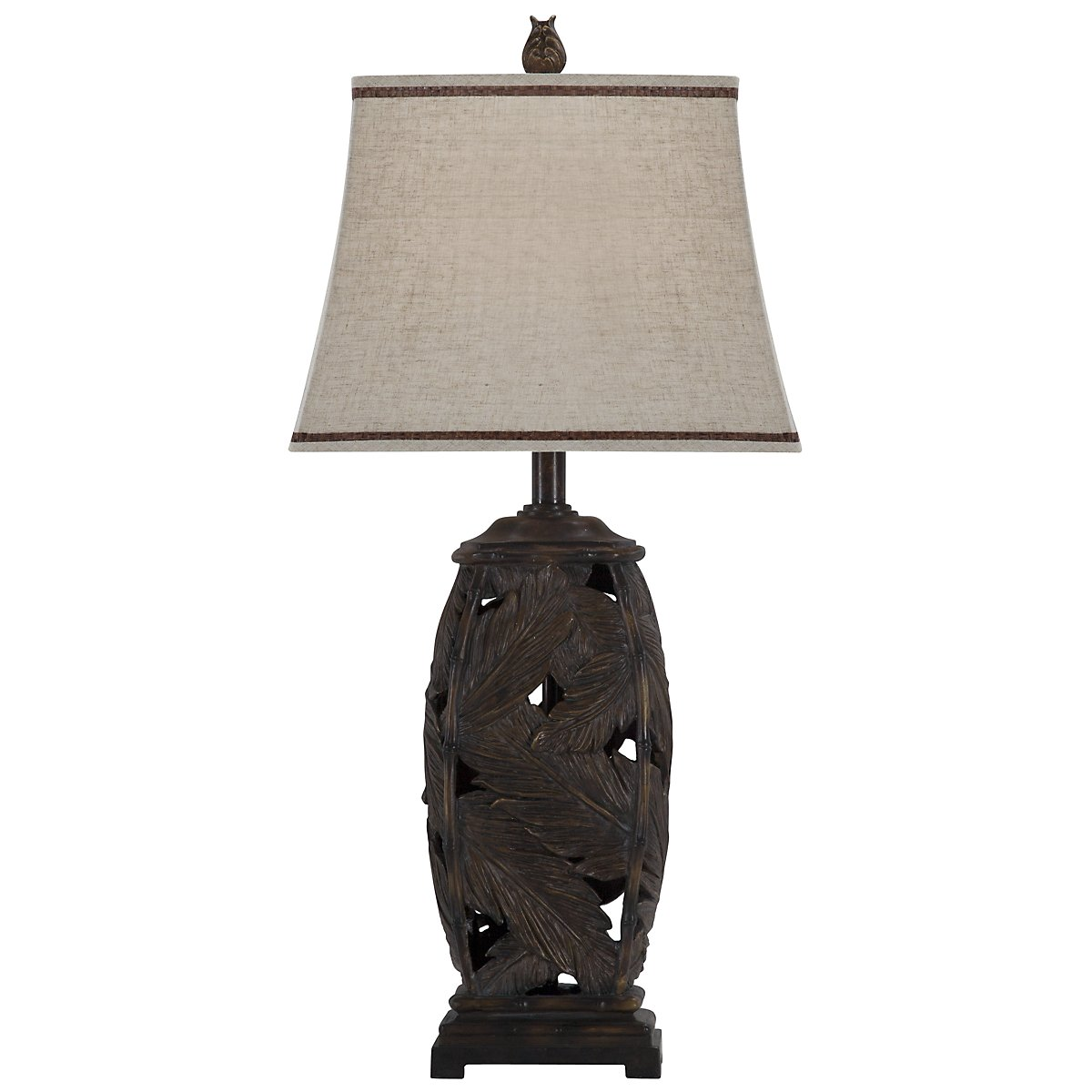 Fronds Dark Brown Table Lamp
