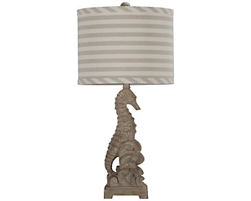 Seahorse Taupe Table Lamp