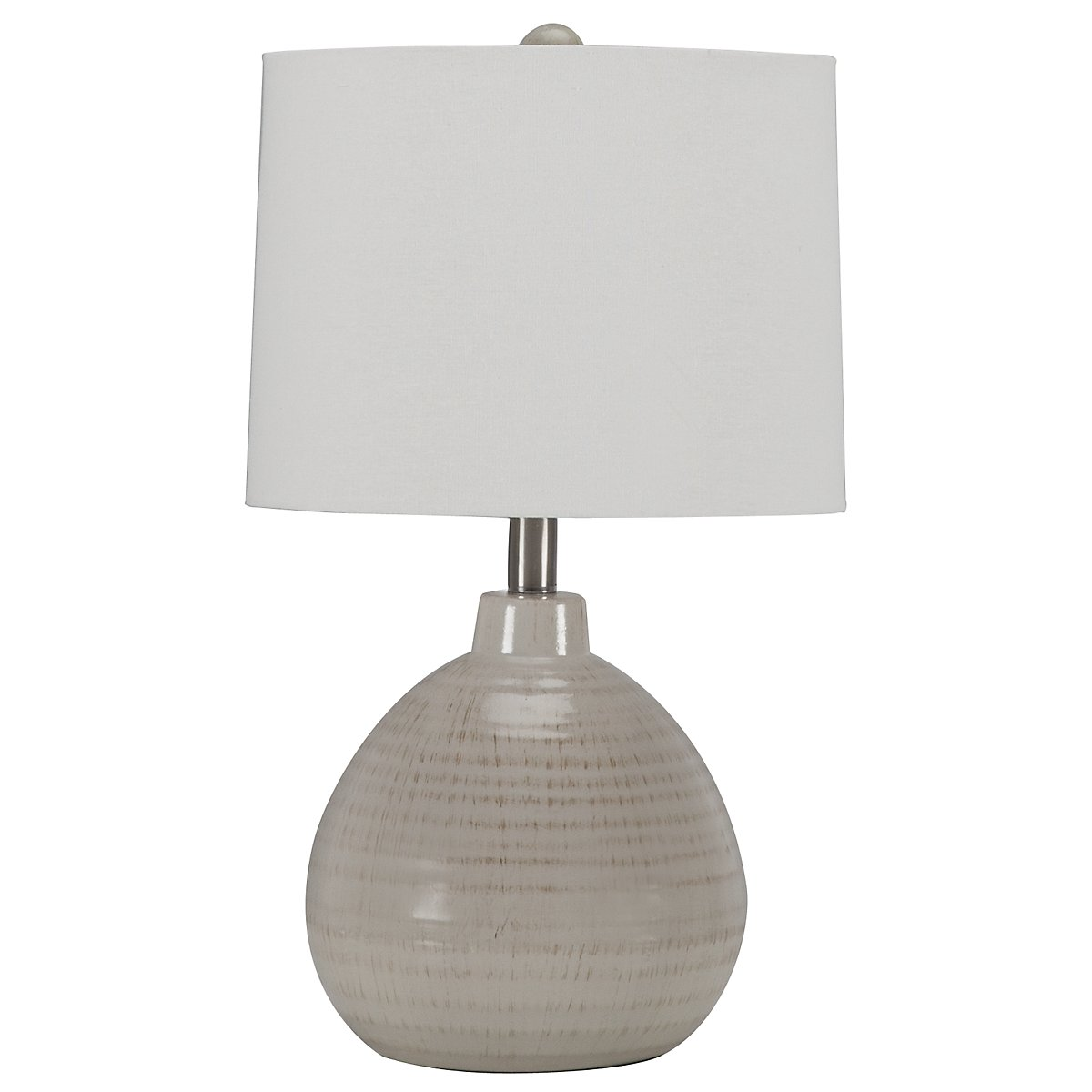 Ribbed Beige Table Lamp