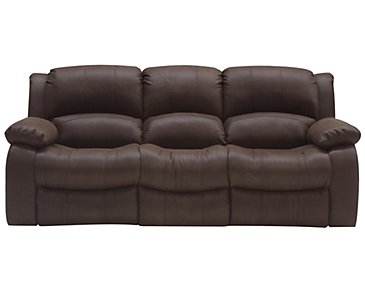 Tyler2 Dark Brown Microfiber Reclining Sofa