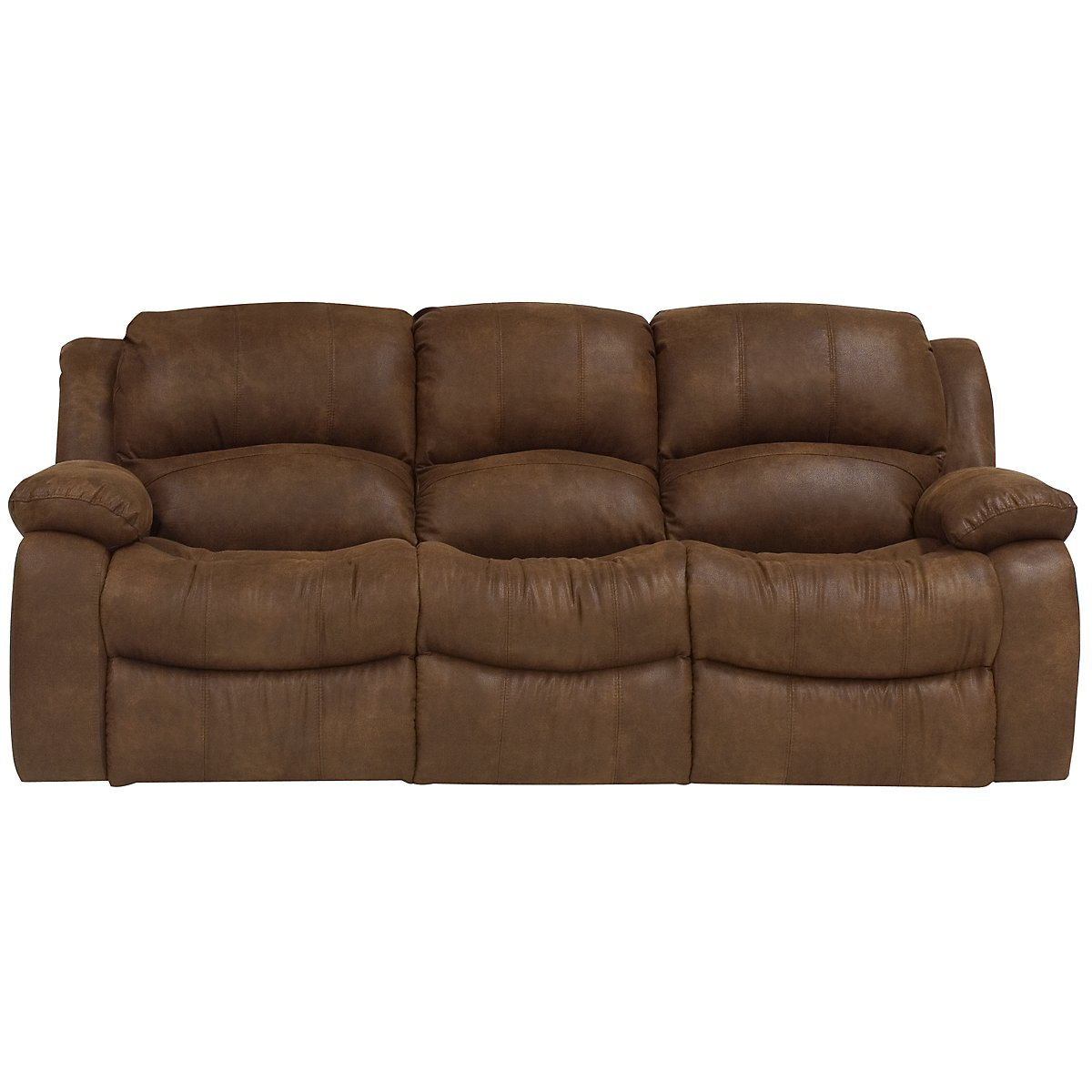 City Furniture Tyler2 Md Brown Microfiber Reclining Sofa