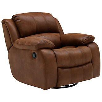 Tyler2 Md Brown Microfiber Swivel Glider Recl