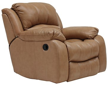 Tyler3 Dark Taupe Leather & Vinyl Power Recliner