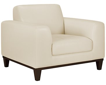 Piper Light Beige Bonded Leather Chair
