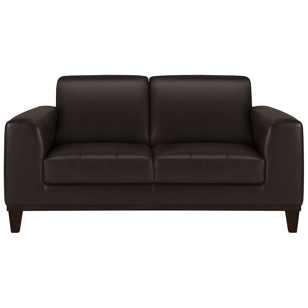 Piper Dark Brown Bonded Leather Loveseat