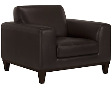 Piper Dark Brown Bonded Leather Chair