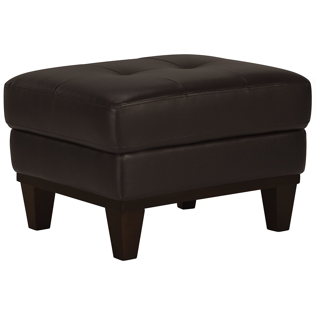 Piper Dk Brown Bonded Leather Ottoman