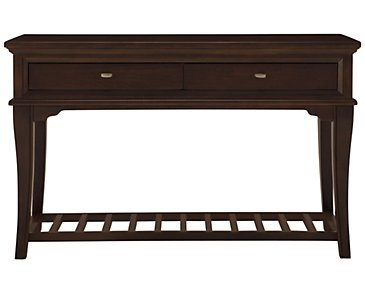 Canyon Dark Tone Wood Sofa Table