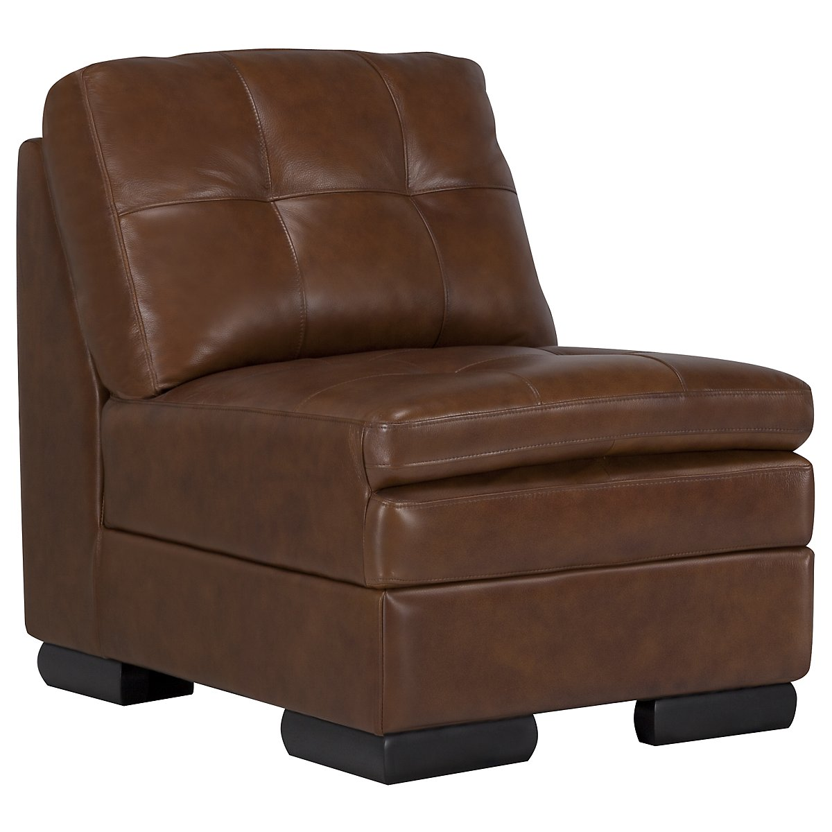 Trevor Md Brown Leather Accent Chair