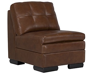Trevor Medium Brown Leather Accent Chair