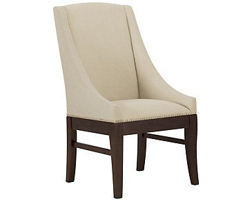 Canyon2 Dark Tone Sloped Upholstered Arm Chair