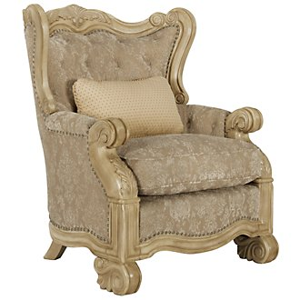 Regal Light Tone Fabric Accent Chair