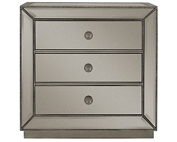Adiva Small Mirrored Accent Chest
