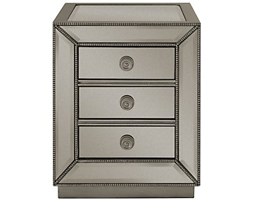 Adiva Mirrored Storage Rectangular End Table