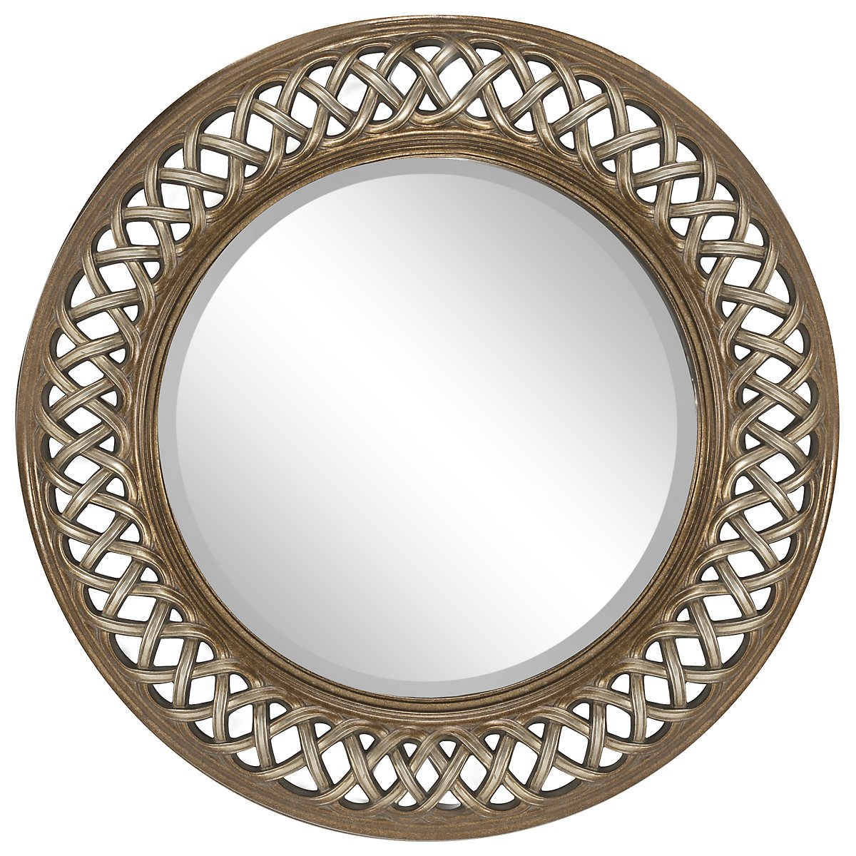 Spirals Gold Mirror