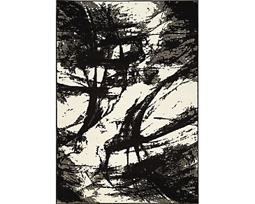 Abstract Black 8X11 Area Rug