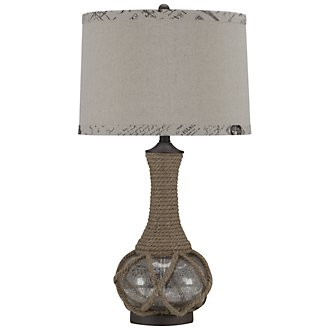 Rope Lt Brown Table Lamp